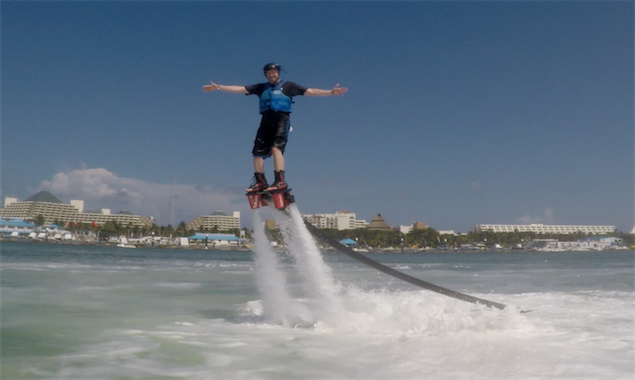 Flyboarding in Cancun, Mexico